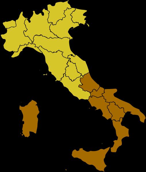 Юг Италии традиционно включает южные земли материковой части страны и острова Искья, Капри, Сицилия и некоторые другие