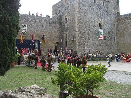 Средневековое представление на ''Sagra del Tordo''