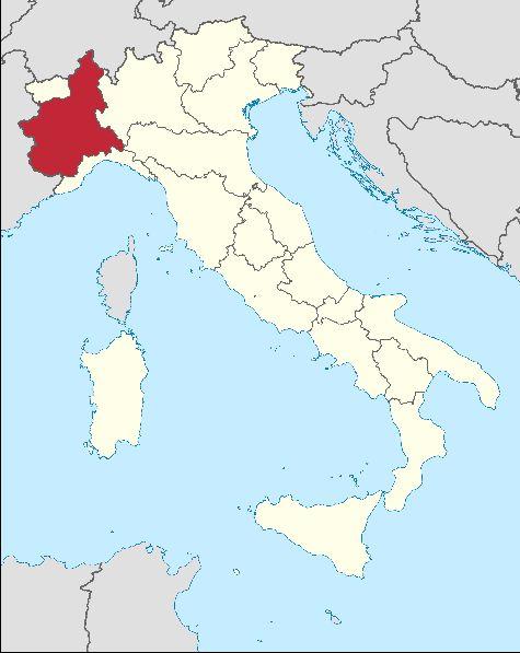 Пьемонт на карте Италии находится в ее северо-западной части