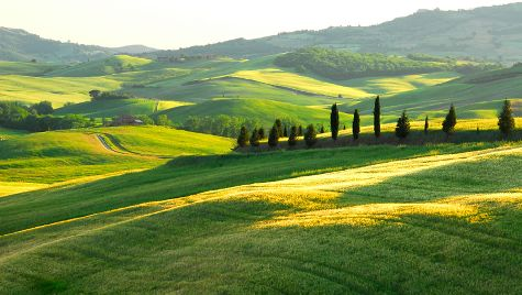 В Тоскане можно наслаждаться разнообразием холмистых и горных пейзажей