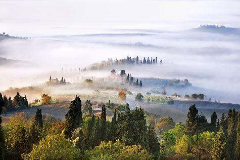 Пейзжи в Тоскане завораживают, так, как, например, в Валь д'Орча
