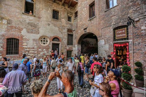 Дом Джульеты в Вероне - одна из самых посещаемых достопримечательностей в  городе